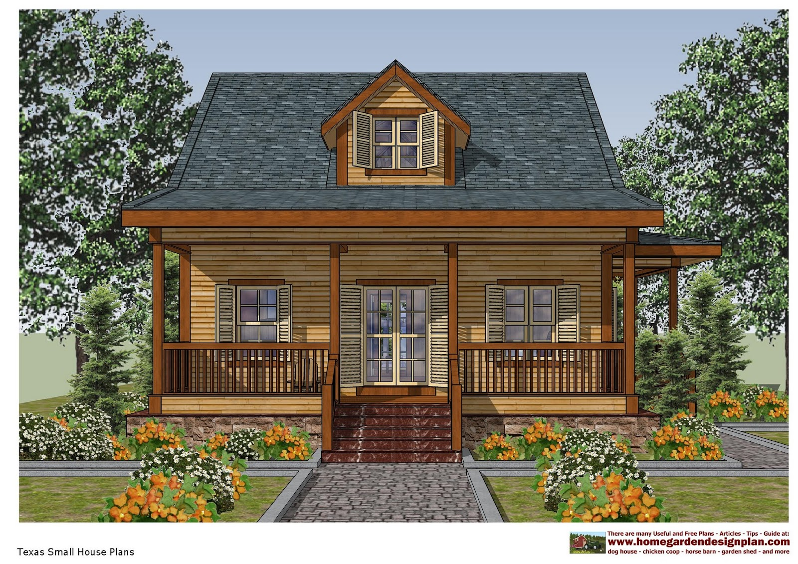 Home garden plans sh100 small house plans small house for Texas house floor plans