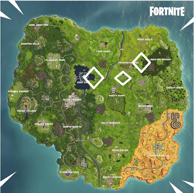 Fortnite, Battle Royal, Season 6, Week 7, Apple Locations Map