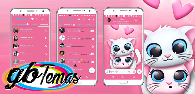 Tema GBWhatsapp - Cute Cats