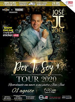 José Joel realizará un homenaje único a su padre José José vía Streaming