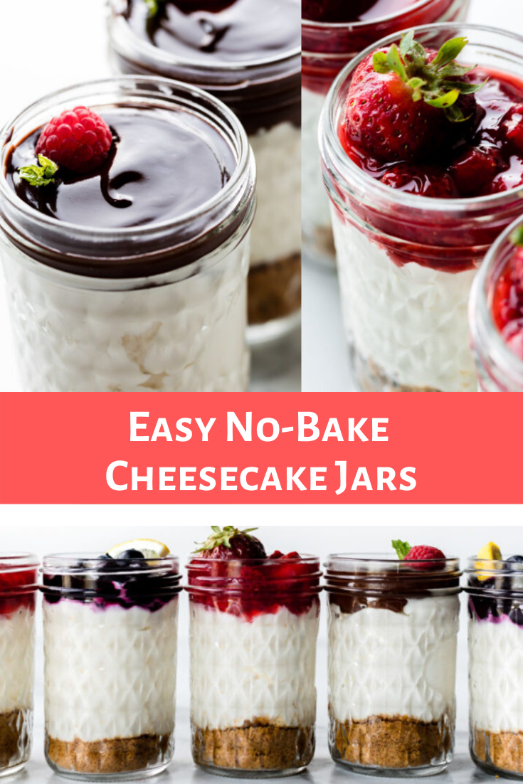 Easy No-Bake Cheesecake Jars Recipe