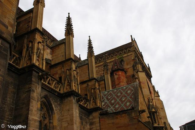 La facciata della cattedrale di Colmar