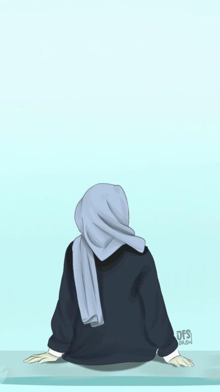 50 Gambar Kartun Muslimah Keren Cantik Dan Sedih — DYP