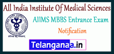 All India Institute Of Medical Sciences MBBS Registration Entrance Exam Notification