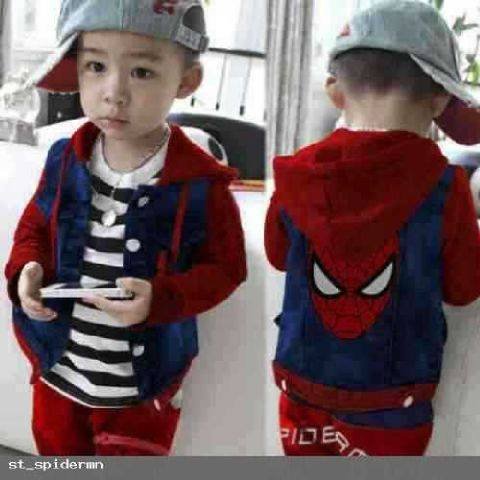 set spider red kids