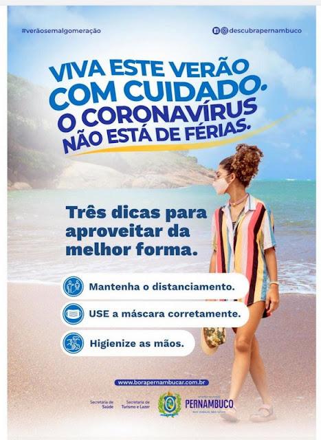 Coronavírus: Governo de Pernambuco lança nova campanha de verão com foco no combate à Covid-19