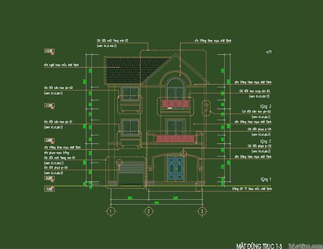 Bản vẻ biệt thự Vinhomes Sài Đồng