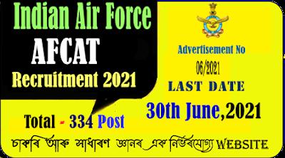 Indian Air Force AFCAT Recruitment 2021