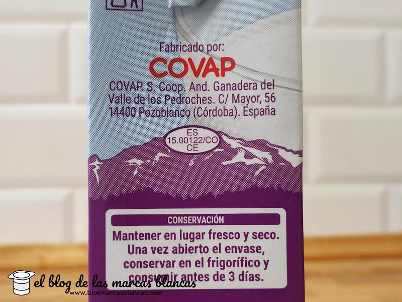COVAP es uno de los fabricantes de la Leche entera sin lactosa HACENDADO (Mercadona) - El Blog de las Marcas Blancas