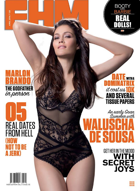 Waluscha De Sousa Looks So Hot On The Cover Of FHM India Magazine April 2016 Issue