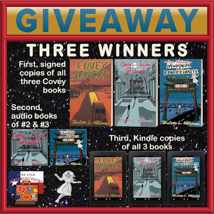 The Chinese Murder of Edward Watts tour giveaway graphic. Prizes to be awarded precede this image in the post text.