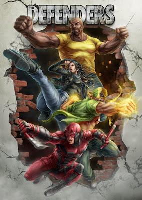 Marvel Comics Daredevil, Jessica Jones and Luke Cage