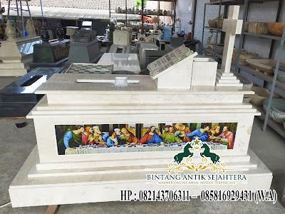Model Makam Perjamuan Batu Marmer