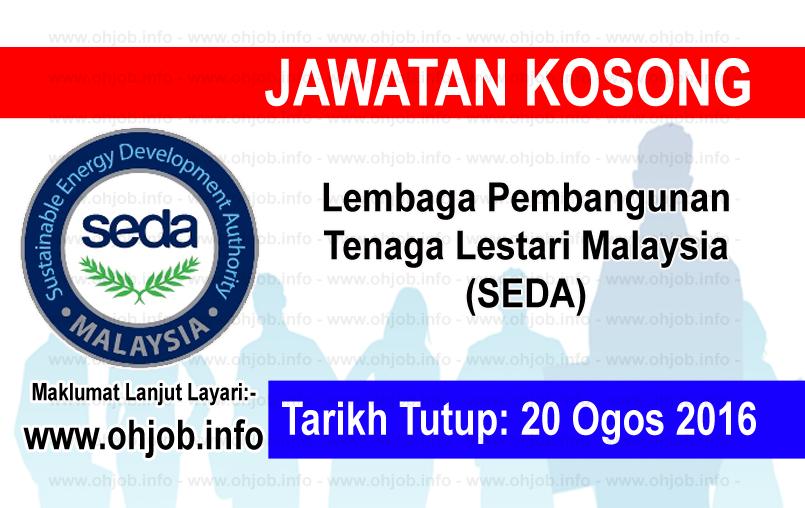 Jawatan Kerja Kosong Lembaga Pembangunan Tenaga Lestari Malaysia (SEDA) logo www.ohjob.info ogos 2016