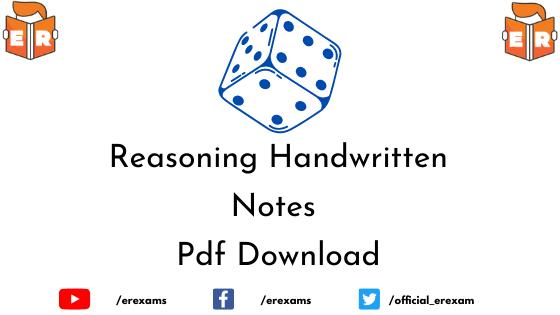 Reasoning Handwritten Notes Pdf Download