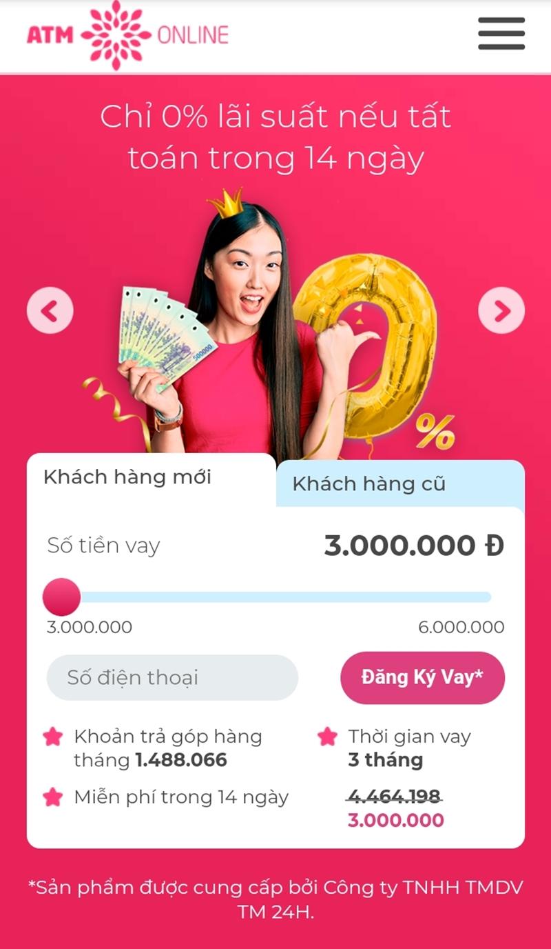 Vay tiền nhanh atm online