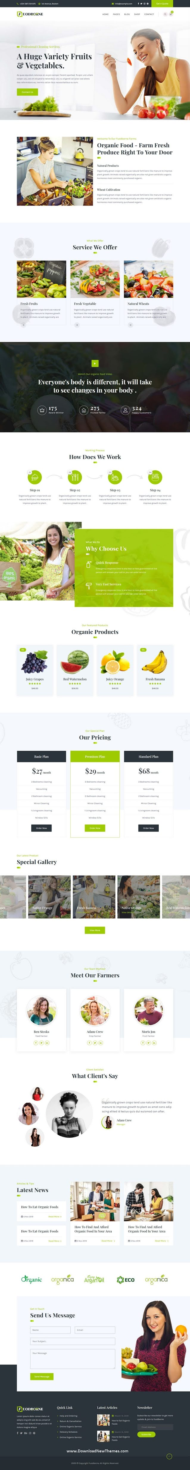 Organic & Agriculture Food Shop Template