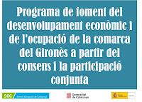 Programa de foment del desenvolupament econòmic i de l'ocupació de la comarca del Gironès a partir del consens i la participació conjunta