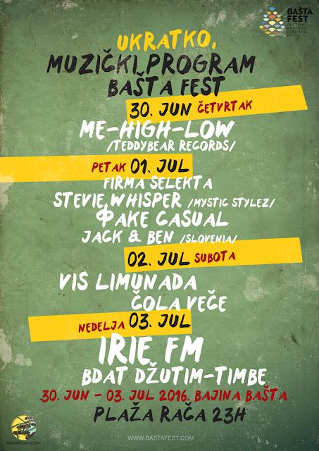 Muzički program festivala