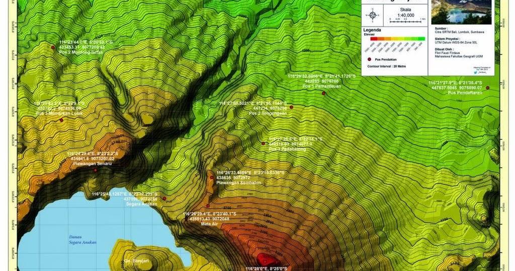 Lentera Merah: Peta TopoGrafi 3D untuk Pendaki Gunung
