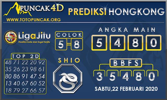 PREDIKSI TOGEL HONGKONG PUNCAK4D 22 FEBRUARI 2020