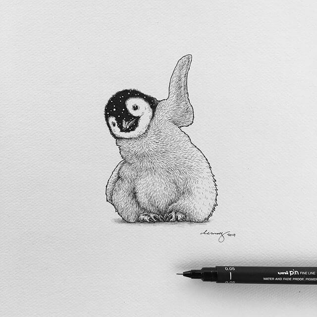 13-The happy penguin-Chen-Naje-www-designstack-co