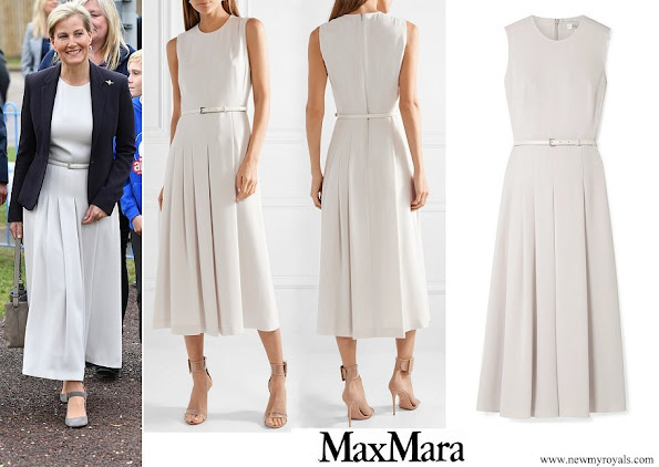 The Countess of Wessex wore Max Mara Belted stretch-cady midi dress