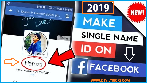 How to Make Single Name on Facebook || 100% working || 2019