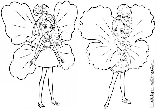 Barbie Thumbelina Coloring Pages Coloring Page Cartoon Barbie