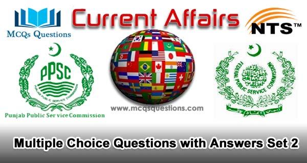 Current Affairs MCQs Set 2