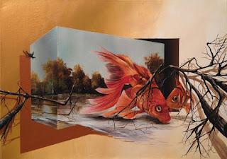 pinturas-tridimensionales-paisajes-caballos-aves
