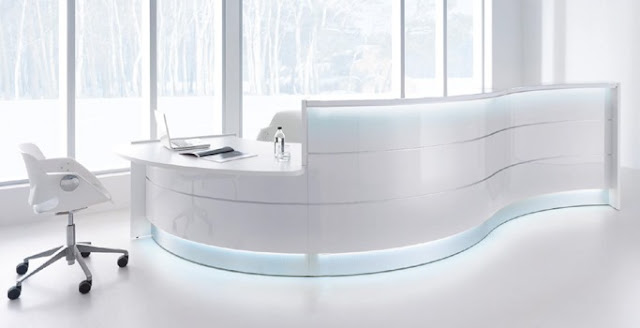 modern office counter design images
