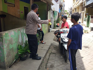 Hadirkan Kamtibmas yang Kondusif, Satbinmas Polres Pelabuhan Makassar berikan Binluh pada Masyarakat