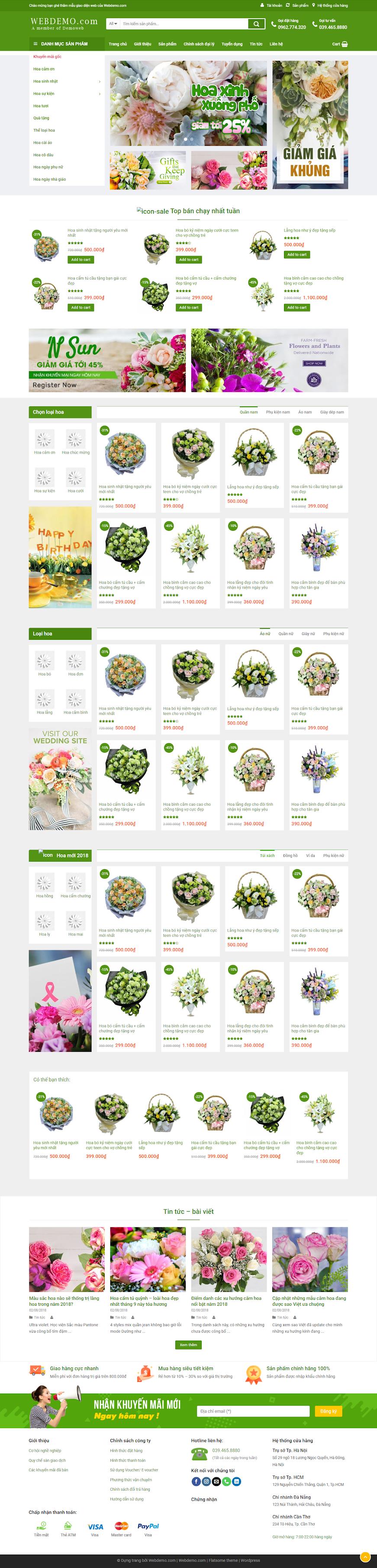 mẫu shop hoa
