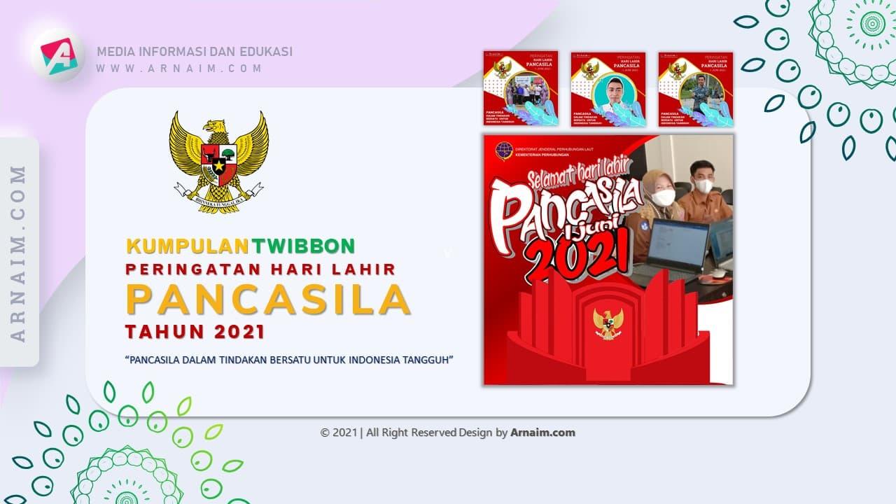 Arnaim.com - Kumpulan Twibbon Elegan Hari Lahir Pancasila Desain 3