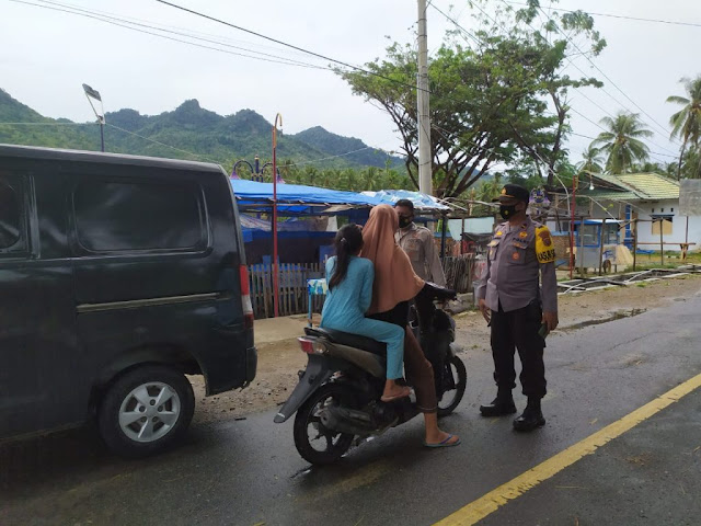 Polsek Bone Raya Lakukan Patroli Rutin Guna Tegakan Protokol Kesehatan.lelemuku.com.jpg