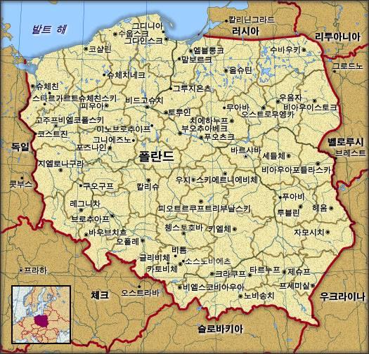 Koreańska mapa Polski
