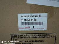 Harga dan Fisik : Lampu Depan Kanan Toyota Innova Old (1st Gen)