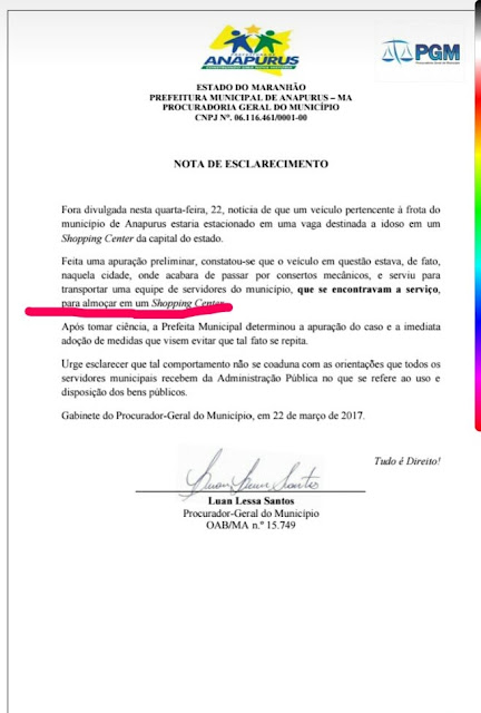 Quanto mais se explica, complica! Prefeitura Municipal de Anapurus emite nota de esclarecimento contraditória