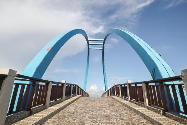彰化王功漁港潮間生態之旅,芳苑王功燈塔和王者之弓橋好雄偉