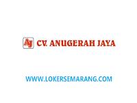 Lowongan Kerja Semarang Bulan April 2021 di CV Anugerah Jaya