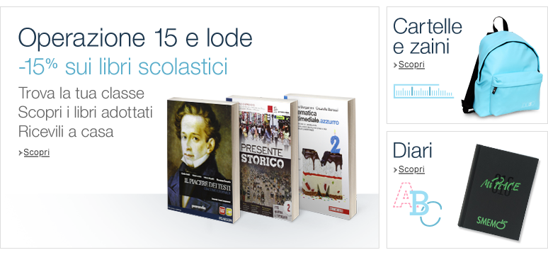 Libri scolastici su Amazon