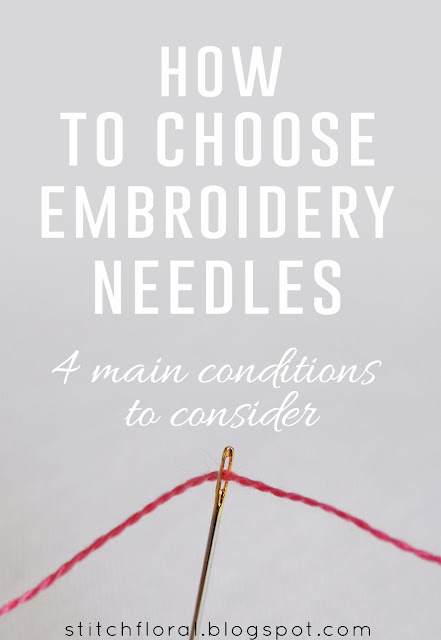 How to choose embroidery needle: 4 conditions to consider