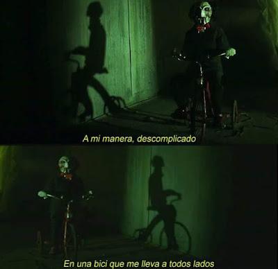 Meme de Humor - La Bicicleta y El juego del miedo