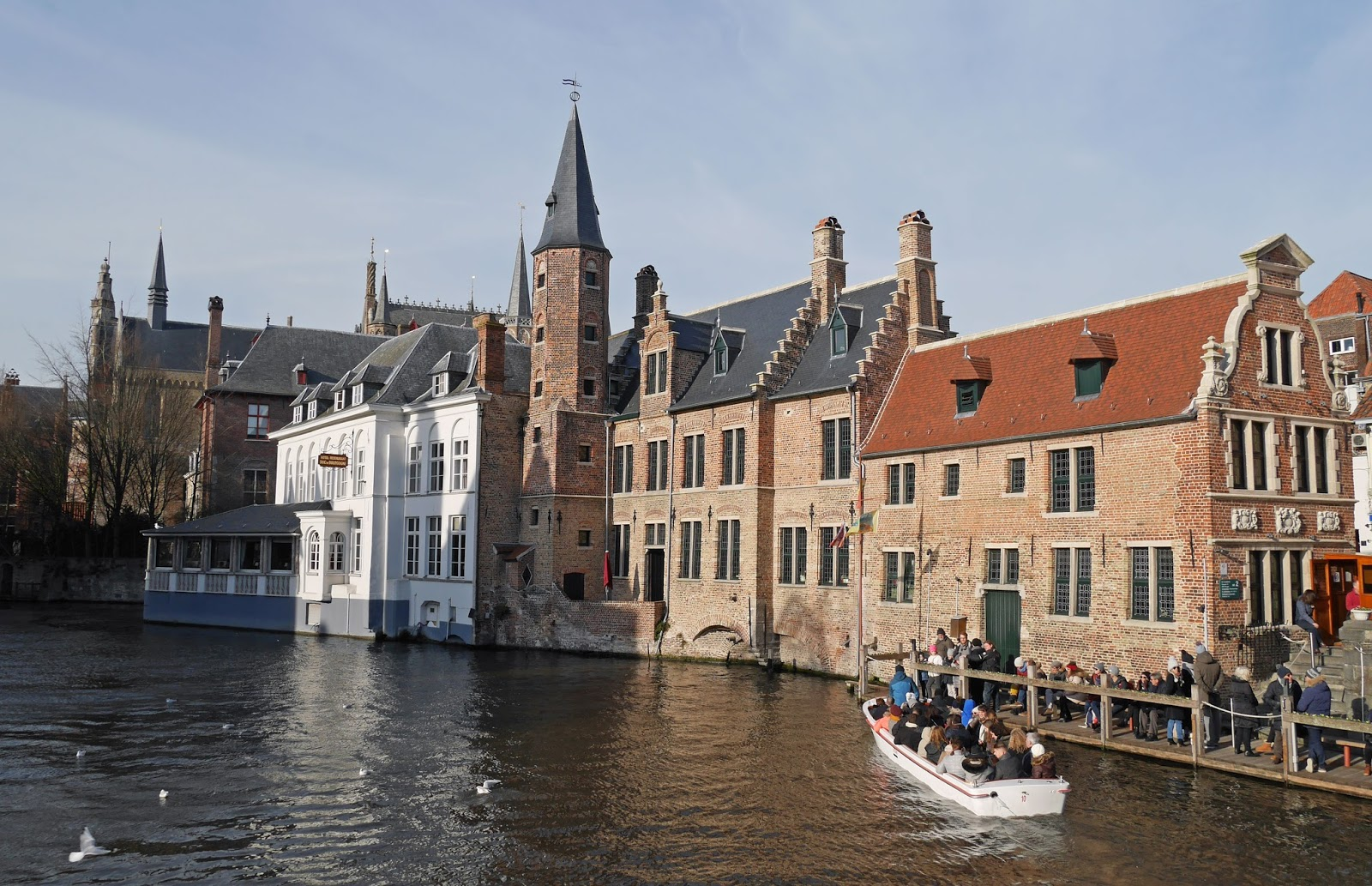 Canal boat tours, Bruges