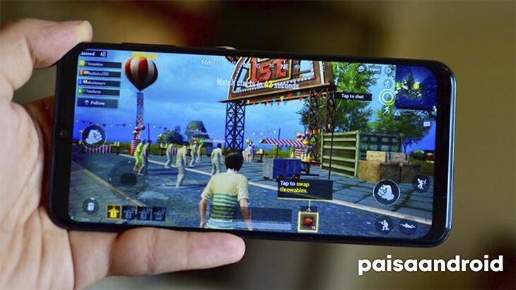 Samsung Galaxy A50 jugando PUBG