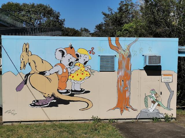 Warrimoo Street Art | Blinky Bill Mural by Bob Treasure
