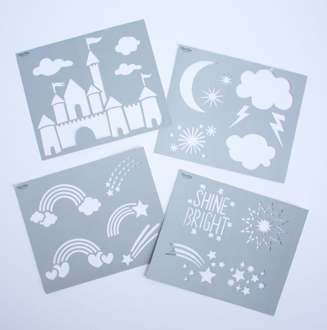 Family friendly adhesive stencils from Martha Stewart #marthastewart #kidsstencils