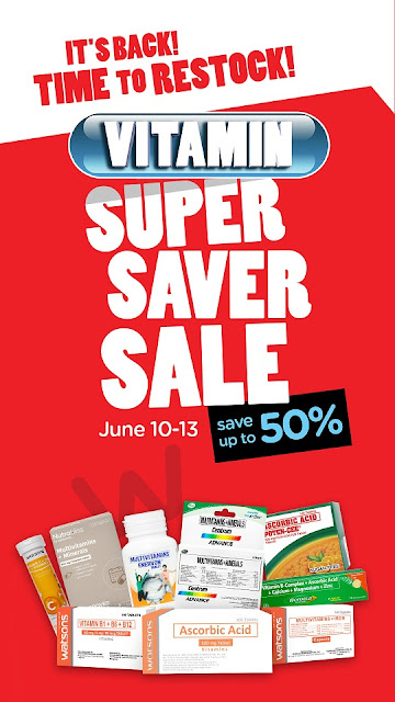 Everyone can secure the health most especially in this precarious time with Watsons genero Vitamins Sale at Watsons up to 50% off!