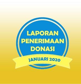 LAPORAN PENERIMAAN DONASI JANUARI 2020